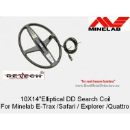 10'' x 14''DD Elliptical For MINELAB E-Trac/Safari/Explorer/Quattro