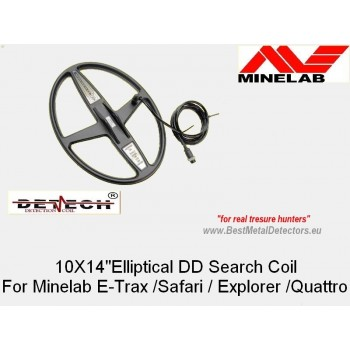 10'' x 14''DD Elliptical for MINELAB E-Trac_Safari_Explorer_Quattro