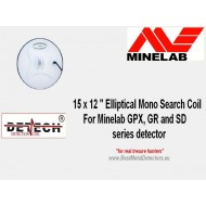 "15 x 12"" Elliptical Mono Search Coil For Minelab GPX,GP,SD series detectors"