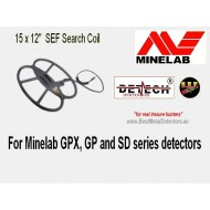 "Detech 15 x 12"" SEF Search Coil For Minelab GPX, GP and SD series detectors"