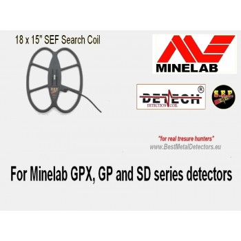 """Detech 18x15""""SEF Search Coil For Minelab GPX, GP and SD series detectors"""