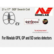 "Detech 21x17"" SEF DD Search coil for Minelad GPX,SD and GP Series"