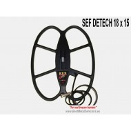 Detech Search Coil SEF 18x15'' For White's Metal Detector