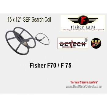 """Detech SEF Search coil for Fisher F75,F70 15"""" x 12"""" DD"""