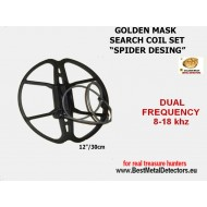 Search Coils Spider 12''-30sm Golden Mask dual freq 8-18Khz