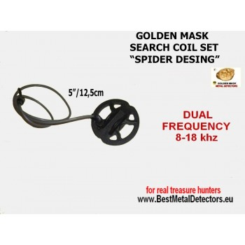 Search Coils Spider 5'' Golden Mask dual freq 8-18Khz